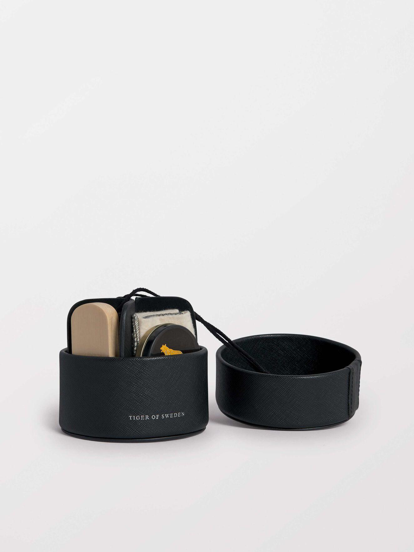 Shoe Shine Travel Kit  in Black from Tiger of Sweden