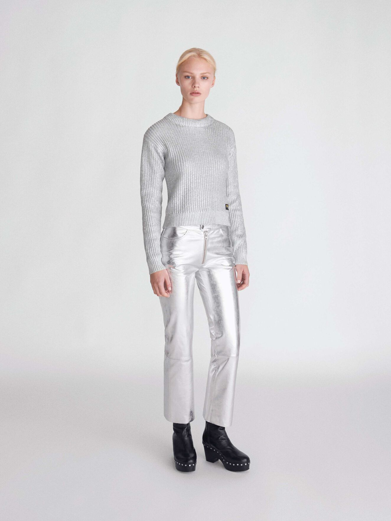 Zandy S Trousers in Mercury Grey from Tiger of Sweden