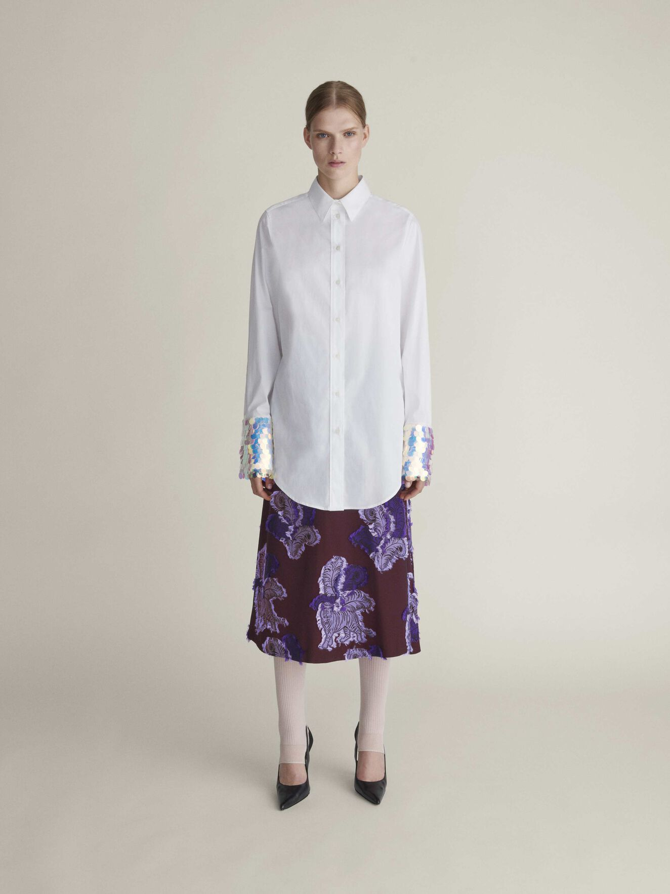 Meda C Shirt in Bright White from Tiger of Sweden