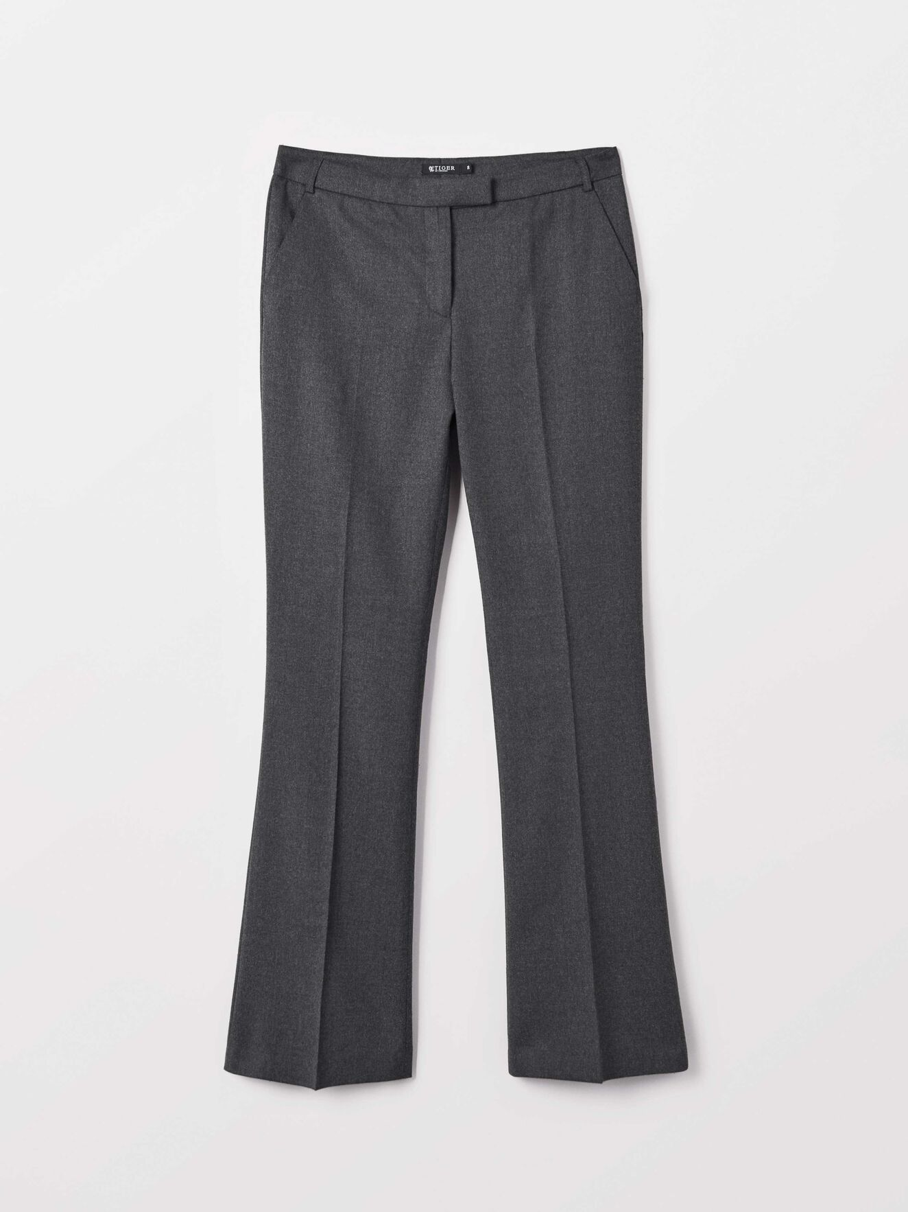 Nive 2 Trousers in Med Grey Mel from Tiger of Sweden