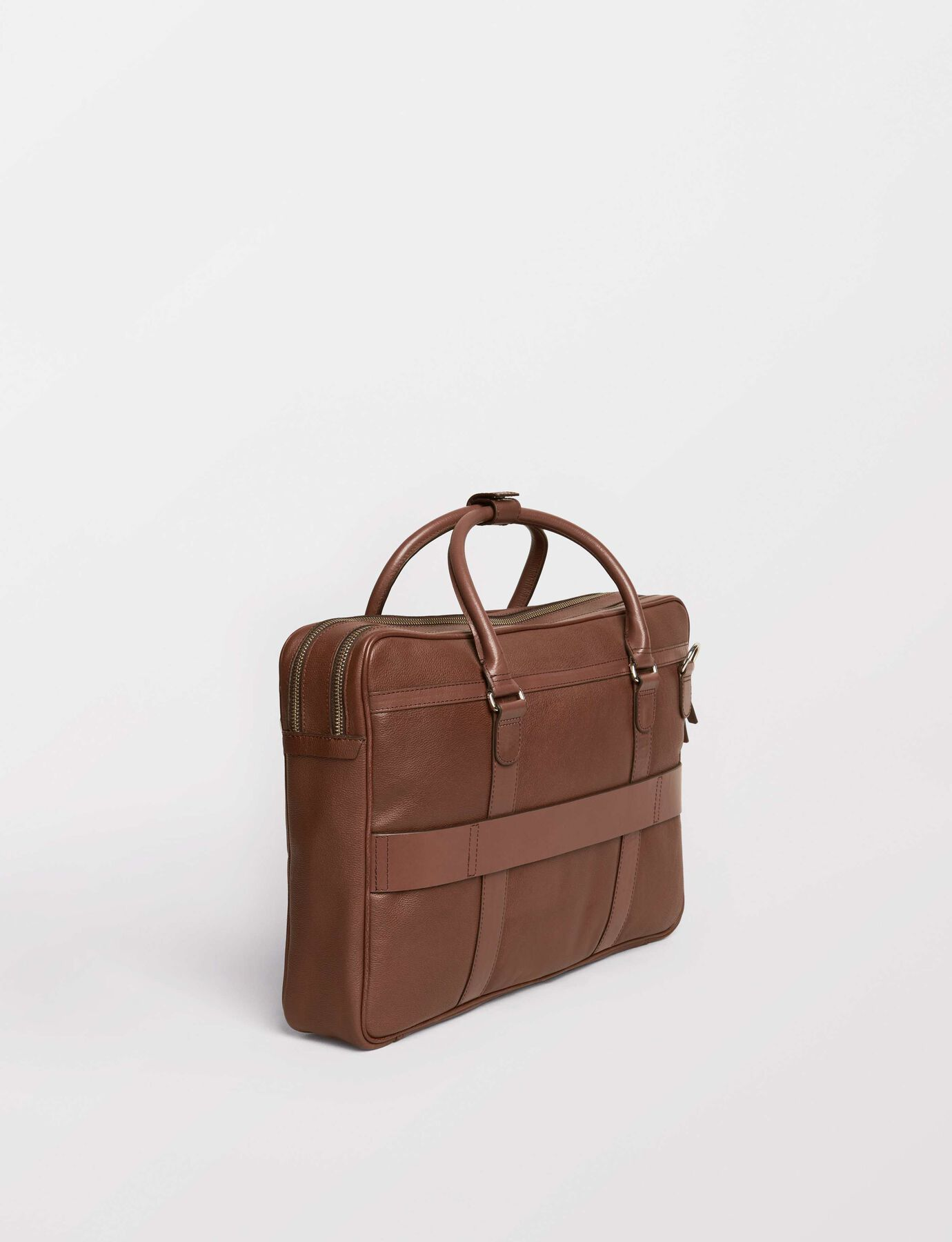 Printel Briefcase in Medium Brown from Tiger of Sweden