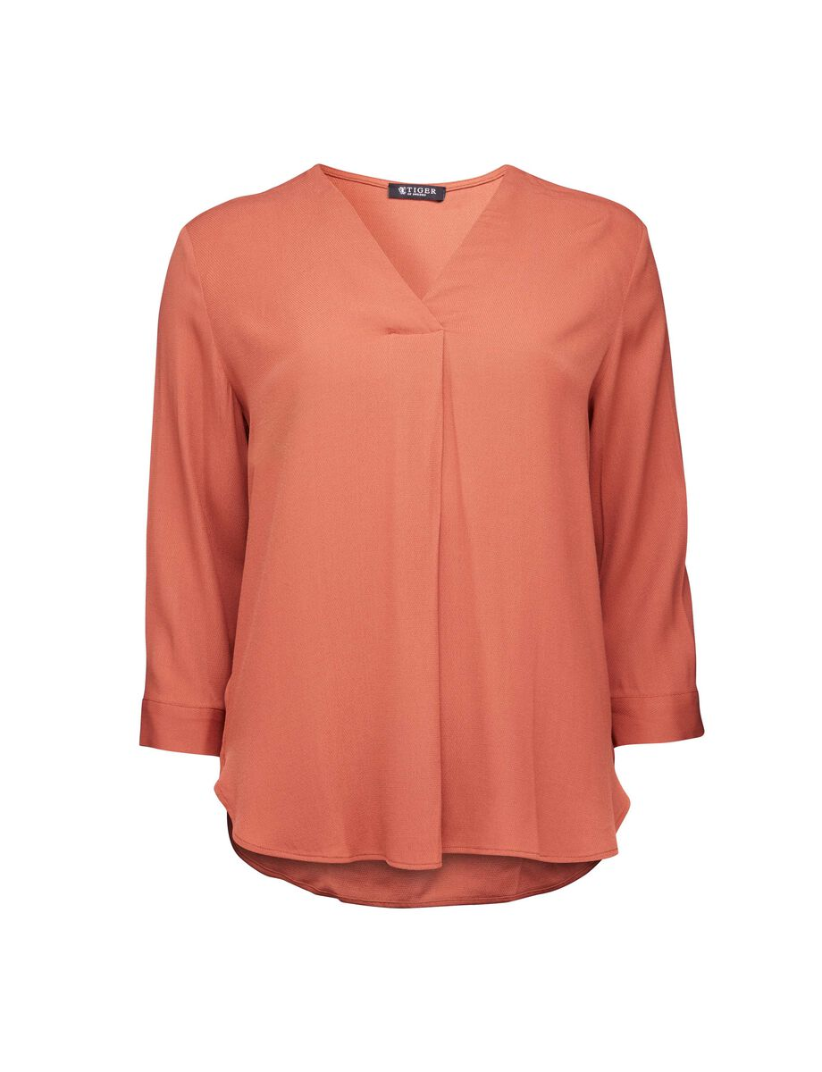 Mere shirt in Copper Brown from Tiger of Sweden