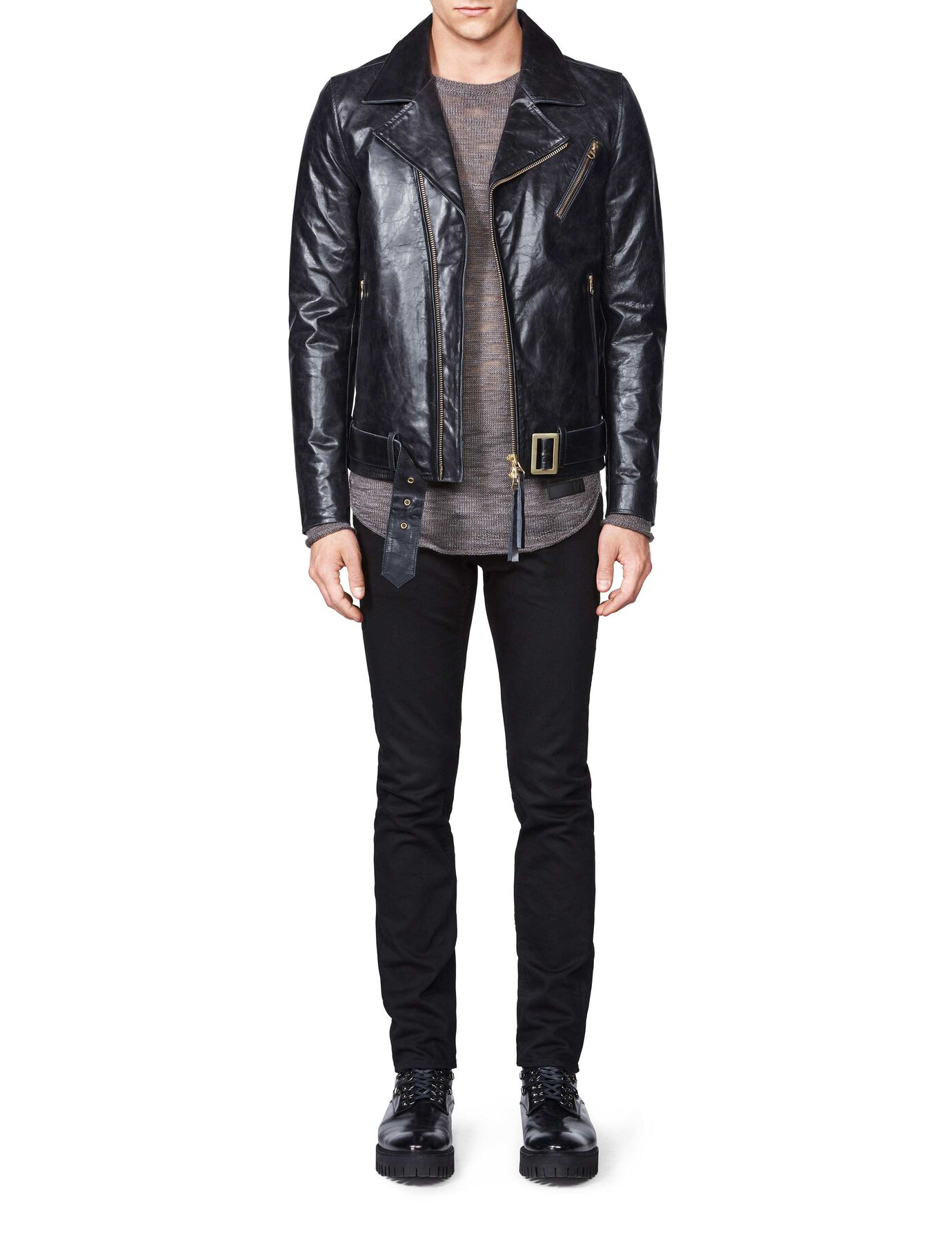 Hellish leather jacket in Black from Tiger of Sweden